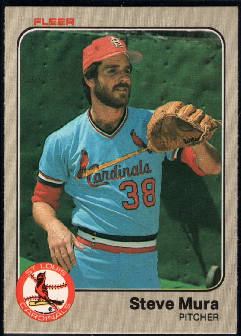 Baseball MLB 1983 Fleer #16 Steve Mura NM-MT Cardinals