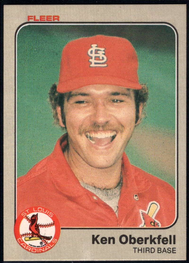 Baseball MLB 1983 Fleer #17 Ken Oberkfell NM-MT Cardinals