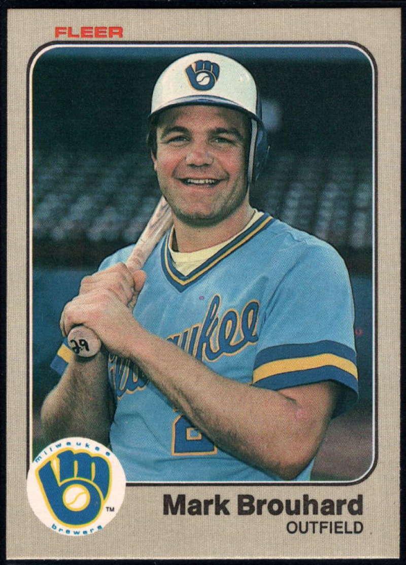Baseball MLB 1983 Fleer #28 Mark Brouhard NM-MT Brewers