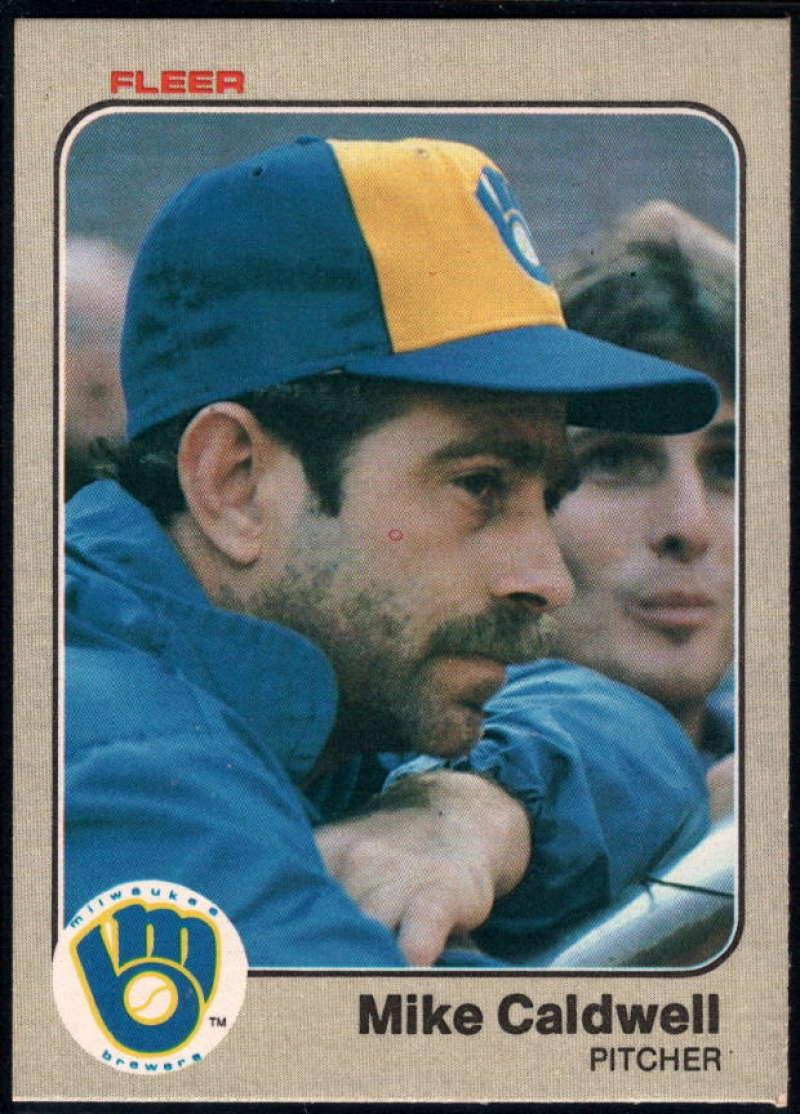 Baseball MLB 1983 Fleer #29 Mike Caldwell NM-MT Brewers