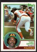 1983 Topps #482 Tony Gwynn UER EX RC Rookie
