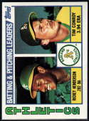 1984 Topps #156 Rickey Henderson/Tim Conroy 3000