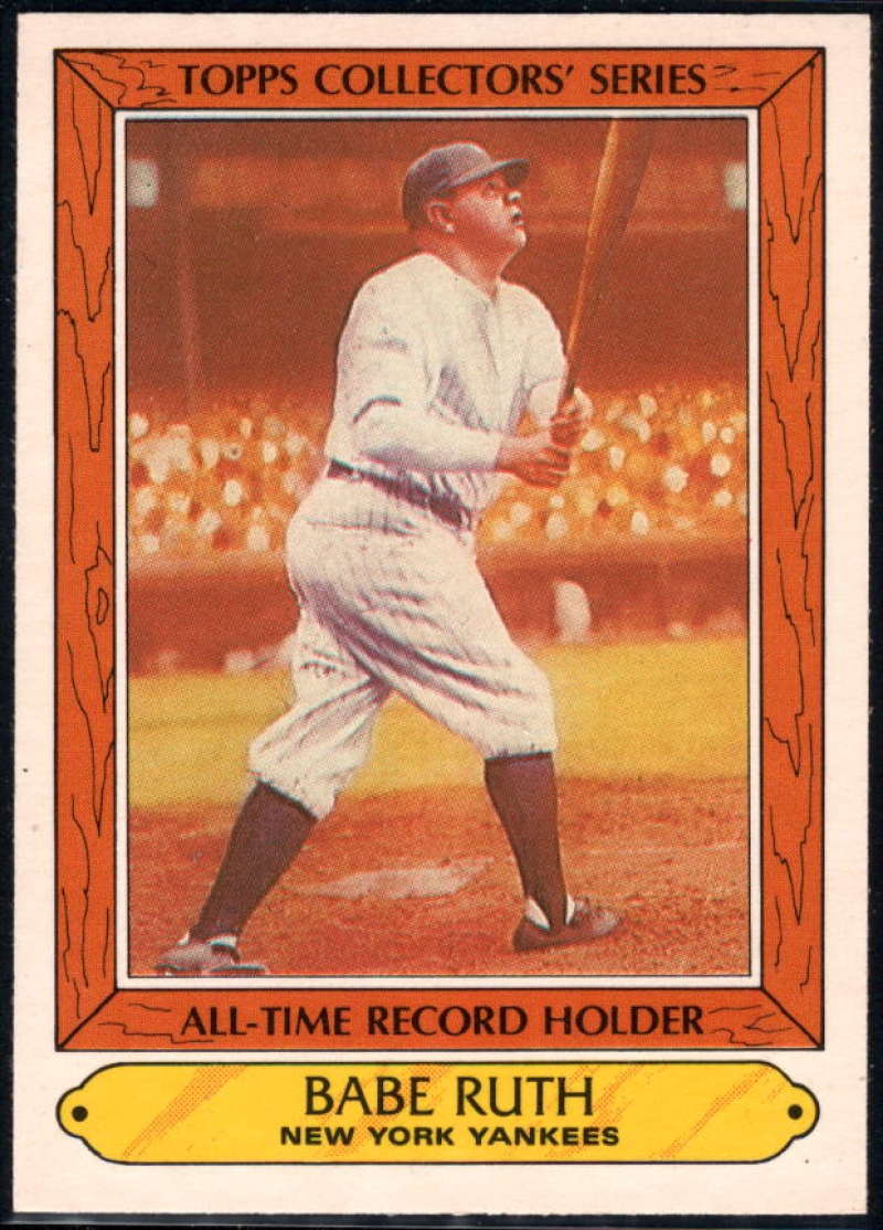 1985 Woolworth Topps Collectors' Series #31 Babe Ruth NM-MT New York Yankees Baseball