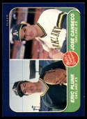 1986 Fleer #649 Eric Plunk/Jose Canseco Prospects NM RC Rookie