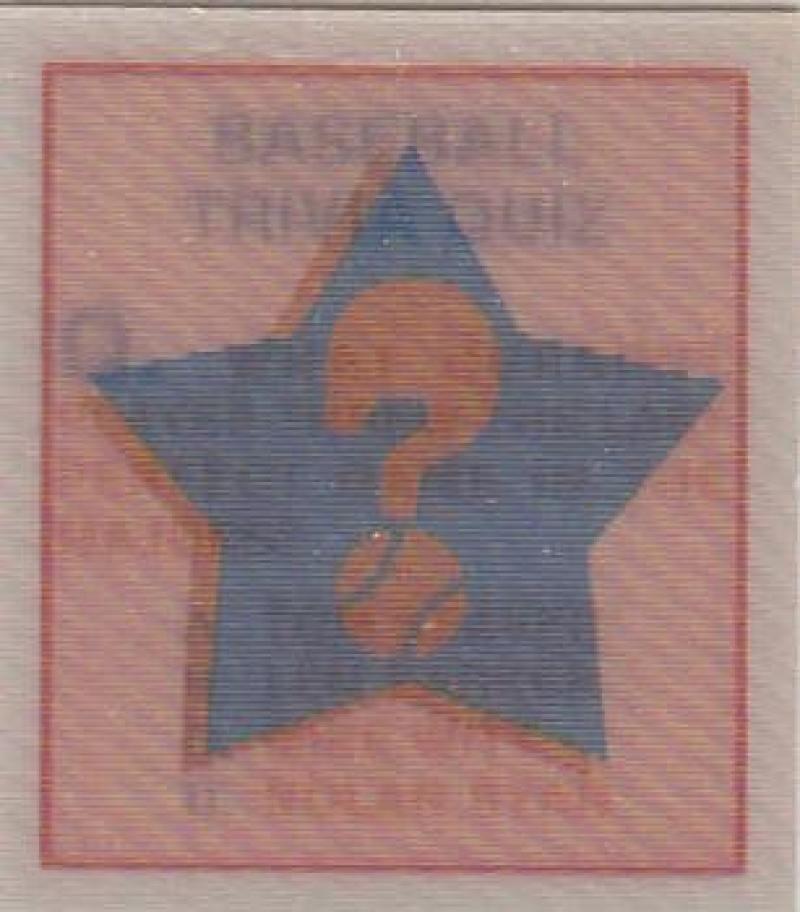 1986 Sportflic  Trivia Cards