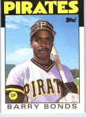 1986 Topps Traded #11T Barry Bonds RC Rookie Pirates