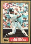 1987 Topps #735 Rickey Henderson 3000