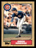 1987 Topps Traded Official MLB Baseball Card #70T Greg Maddux NM-MT RC Rookie Card Chicago Cubs  Major League Baseball Card