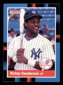 1988 Donruss #277 Rickey Henderson 3000