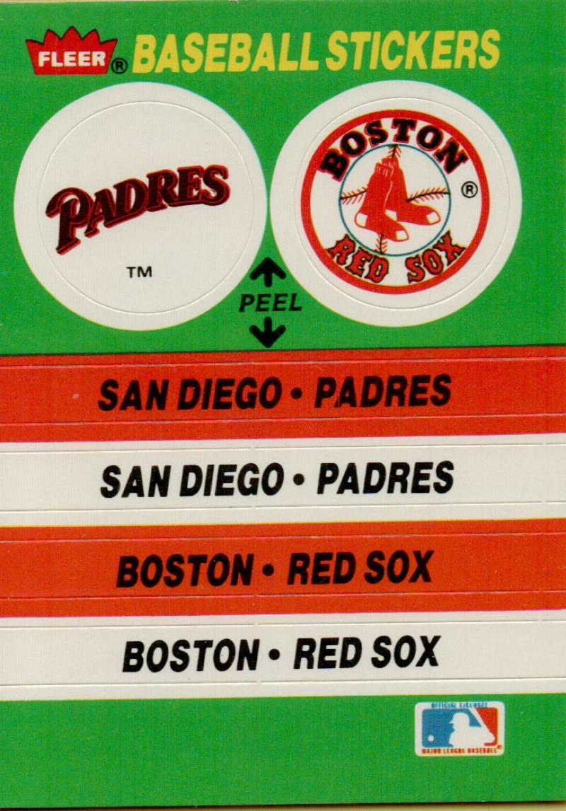 1988 Fleer  Team Logos/Stadium Stickers