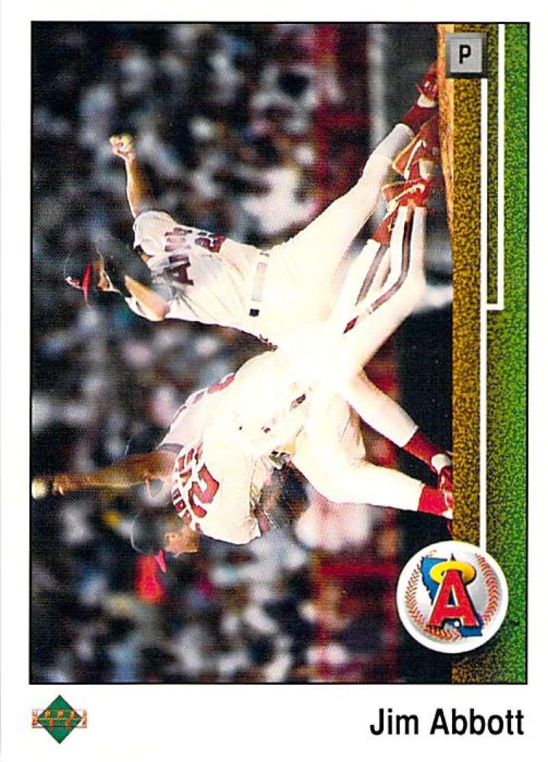 1989 Upper Deck #755 Jim Abbott NM-MT RC Rookie California Angels California Angels Baseball