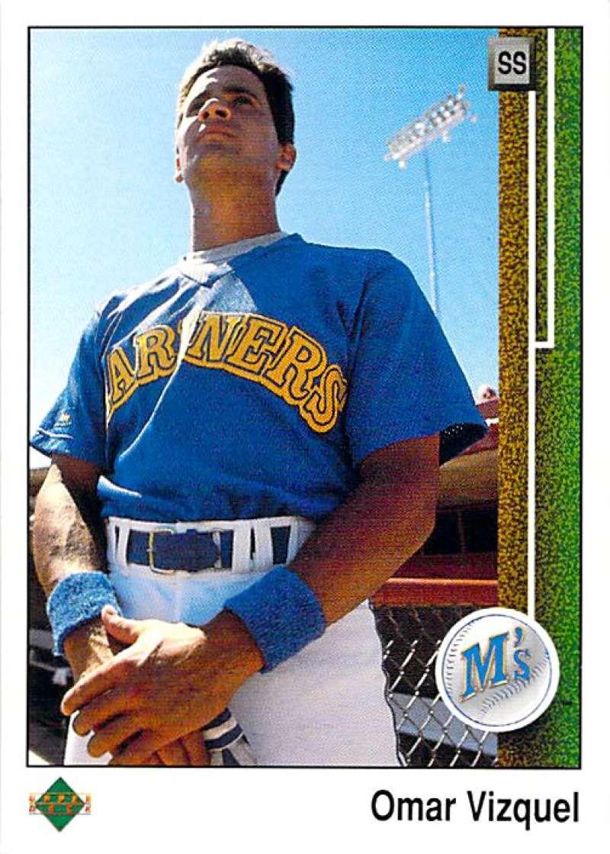 1989 Upper Deck #787 Omar Vizquel NM-MT RC Rookie Seattle Mariners Seattle Mariners Baseball