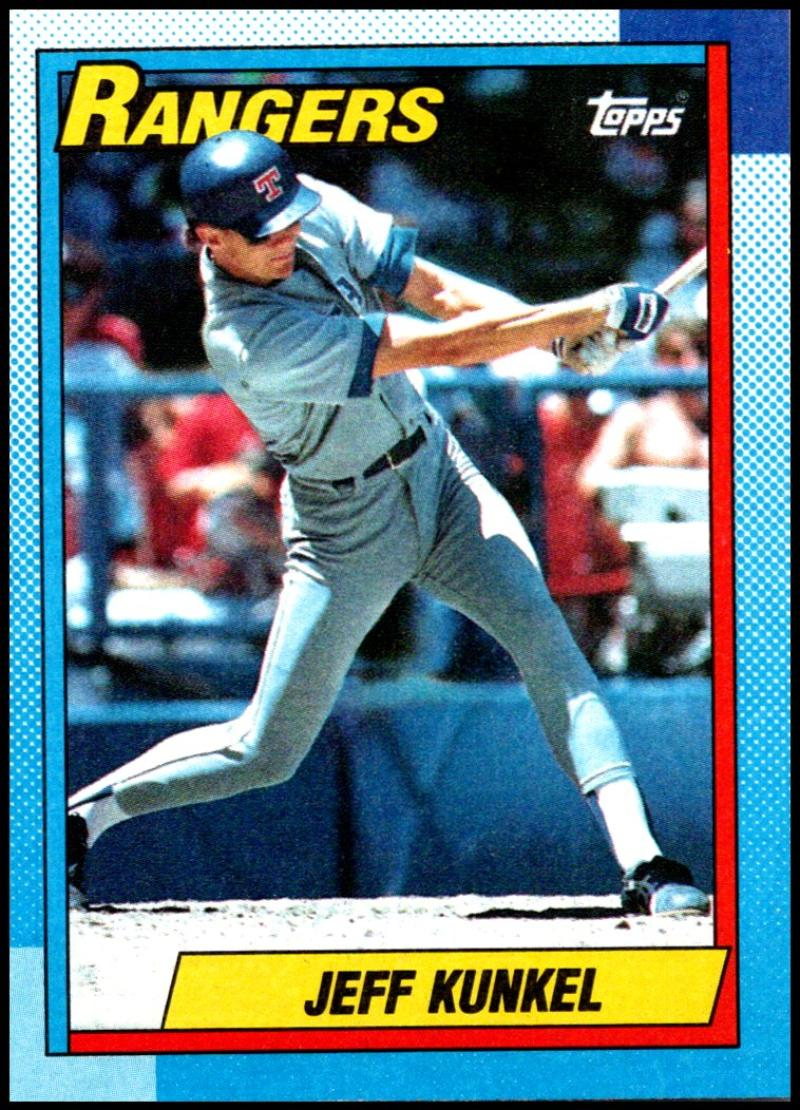 1990 Topps Baseball #174 Jeff Kunkel Texas Rangers  (stock photos used) Near Mint or better condition