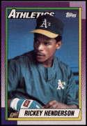 1990 Topps #450 Rickey Henderson 3000