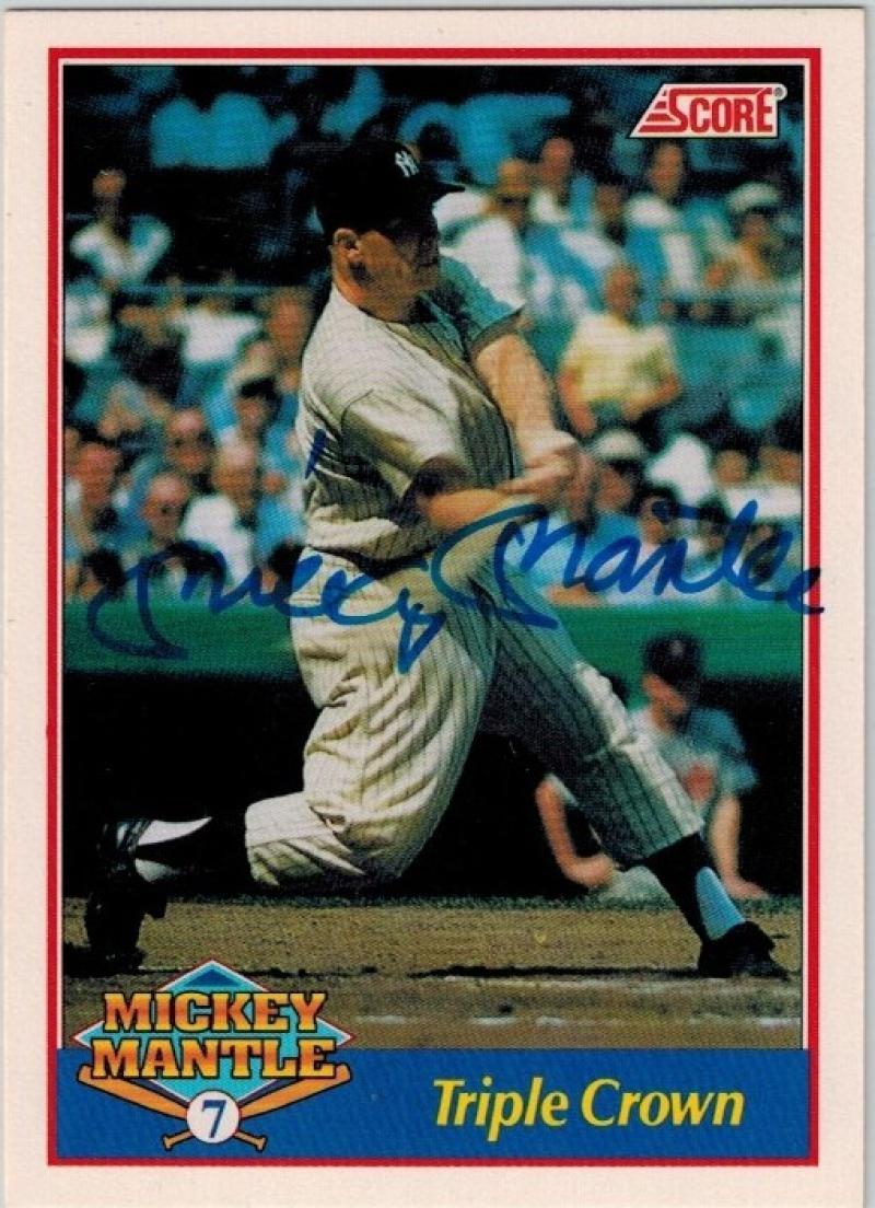 1991 Score  Mickey Mantle