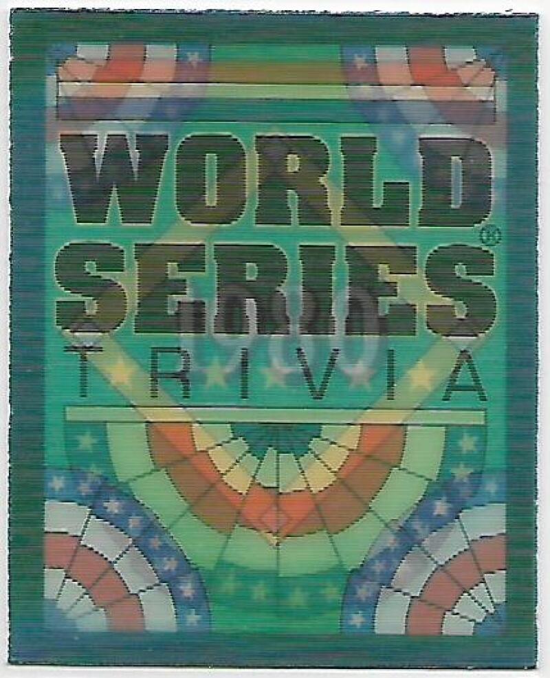 1991 Score  World Series Trivia Magic Motion