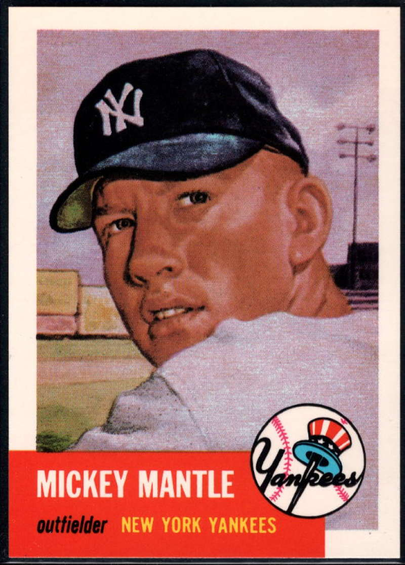 1991 Topps Archives 1953 #82 Mickey Mantle NM-MT+ New York Yankees