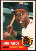 1991 Topps Archives 1953 Reprint Baseball #317 Hank Aaron Milwaukee Braves  Official MLB Trading Card (Reprint of '53 Set)