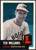 1991 Topps Archives 1953 Baseball #319 Ted Williams Boston Red Sox  Official MLB Trading Card (Reprint of '53 Set)