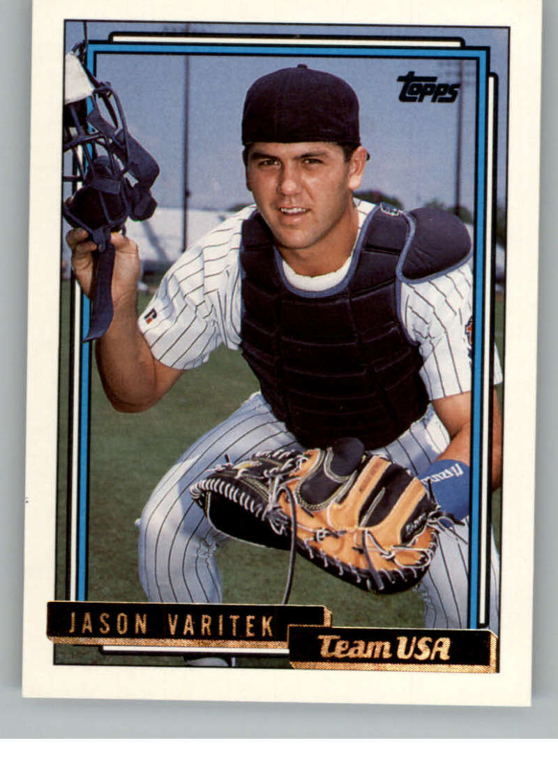 1992 Topps Traded Gold #123T Jason Varitek USA NM-MT RC Rookie