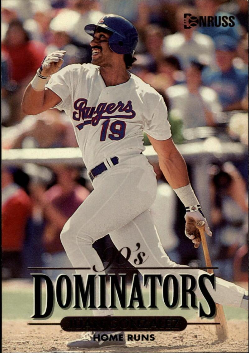 1994 Donruss  Decade Dominators Jumbos