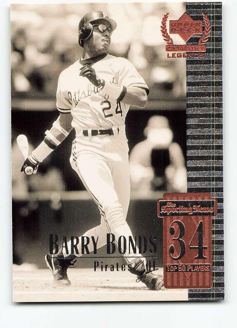 1999 Upper Deck Century Legends #34 Barry Bonds