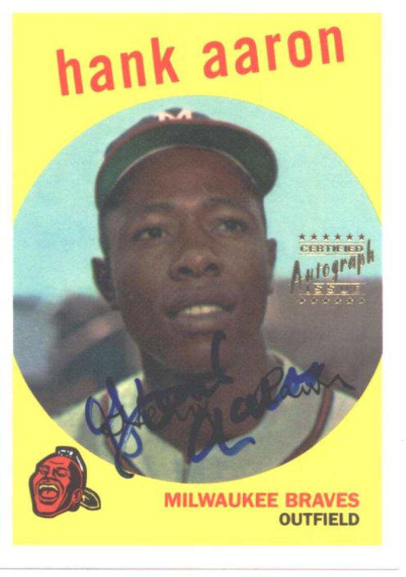 2000 Topps  Hank Aaron Autographs