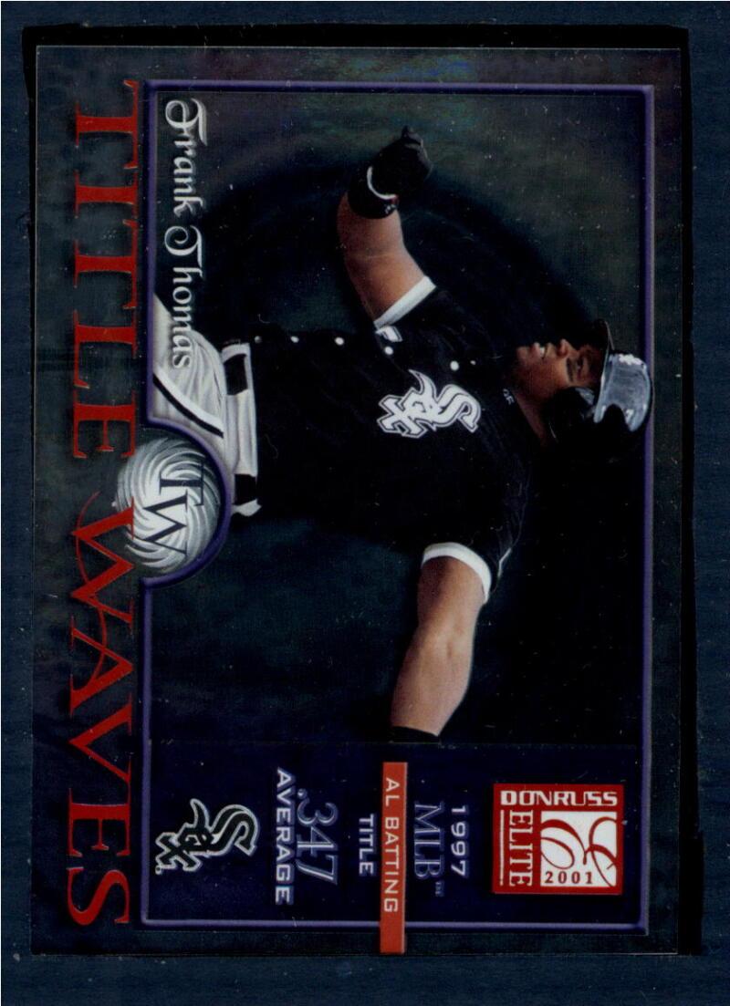 2001 Donruss Elite Title Waves