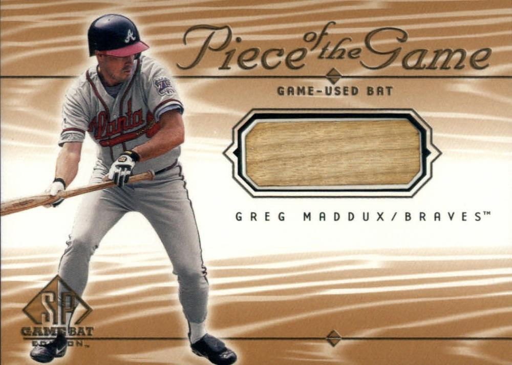 2001 SP Game Bat Piece of the Game