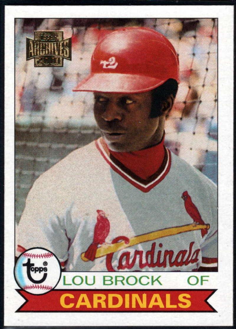 2001 Topps Archives #150 Lou Brock 79 NM-MT St. Louis Cardinals