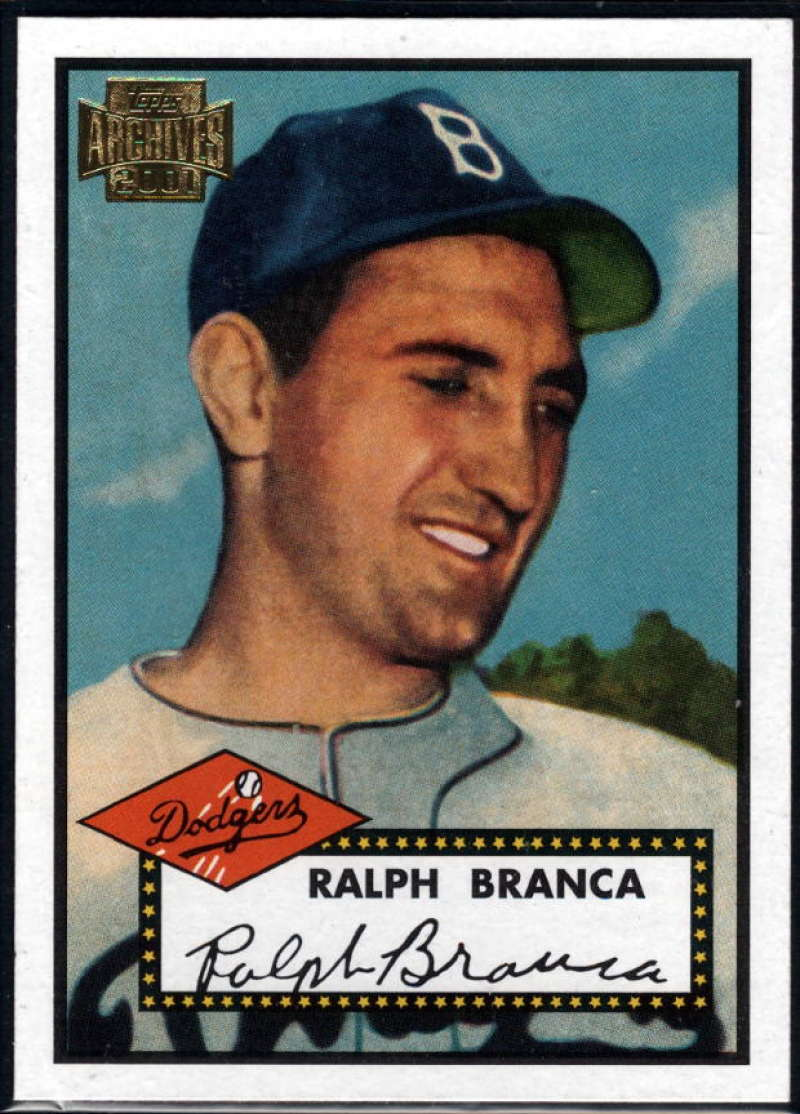 Baseball MLB 2001 Archives #227 Ralph Branca 52 NM-MT Dodgers