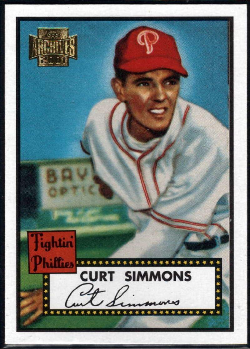 Baseball MLB 2001 Archives #238 Curt Simmons 52 NM-MT