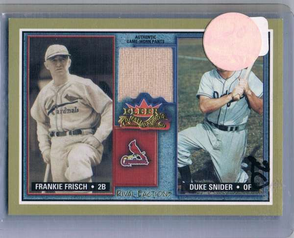 2002 Fleer Fall Classics Rival Factions Game Used Dual