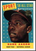 2002 Topps Archives Baseball #190 Hank Aaron Milwaukee Braves 1958 Official MLB Retro Themed Trading Card From The Topps