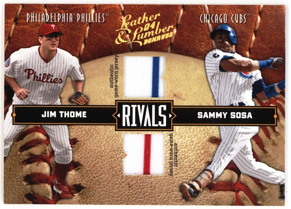 2004 Donruss Leather and Lumber Rivals Materials