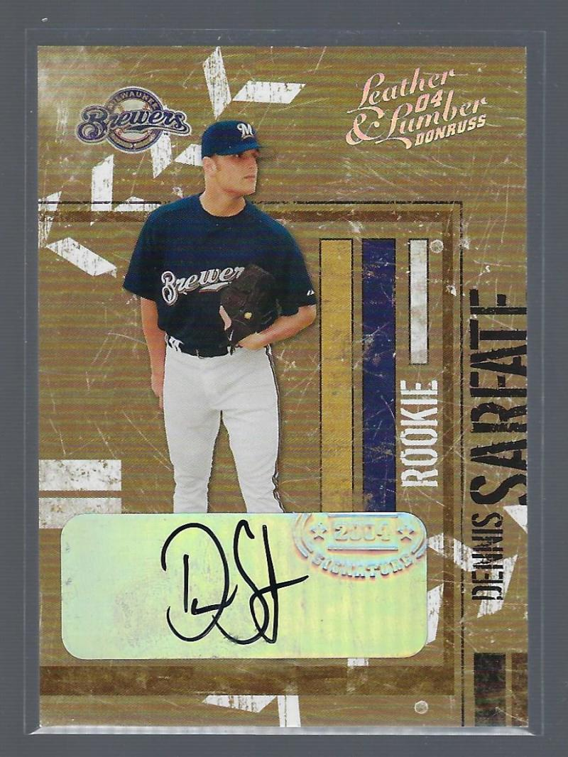 2004 Donruss Leather and Lumber Signatures Silver