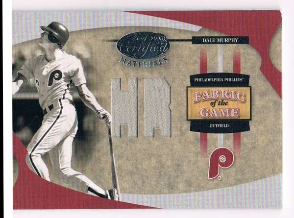 2005 Leaf Certified Materials Fabric of the Game Stats