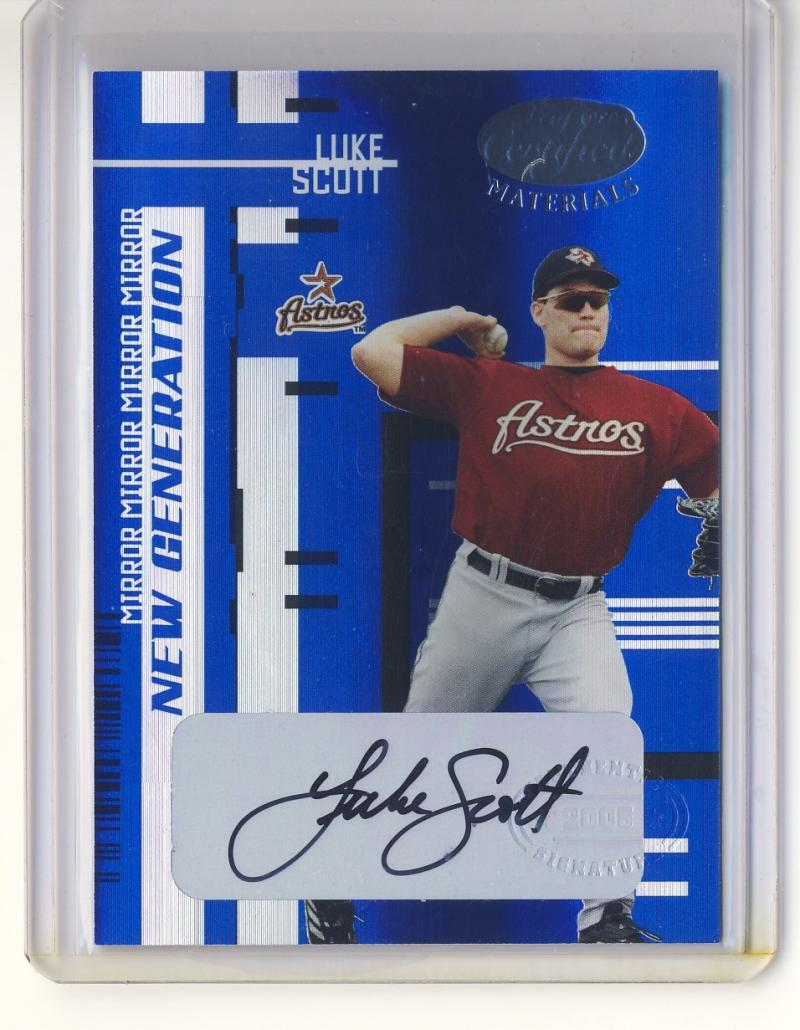 2005 Leaf Certified Materials Mirror Autograph Blue