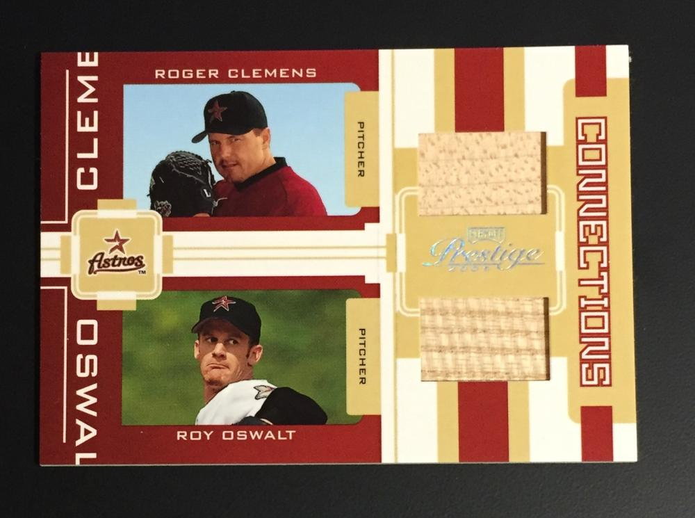 2005 Playoff Prestige Connections Material Dual Bat