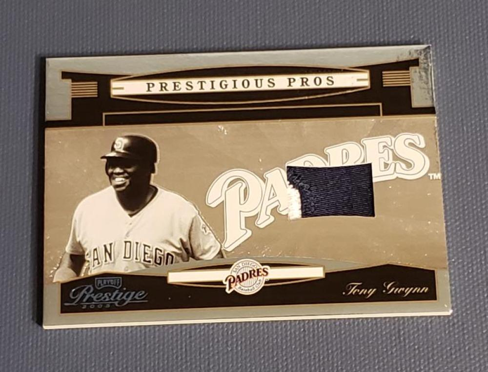 2005 Playoff Prestige Prestigious Pros Material Patch Platinum