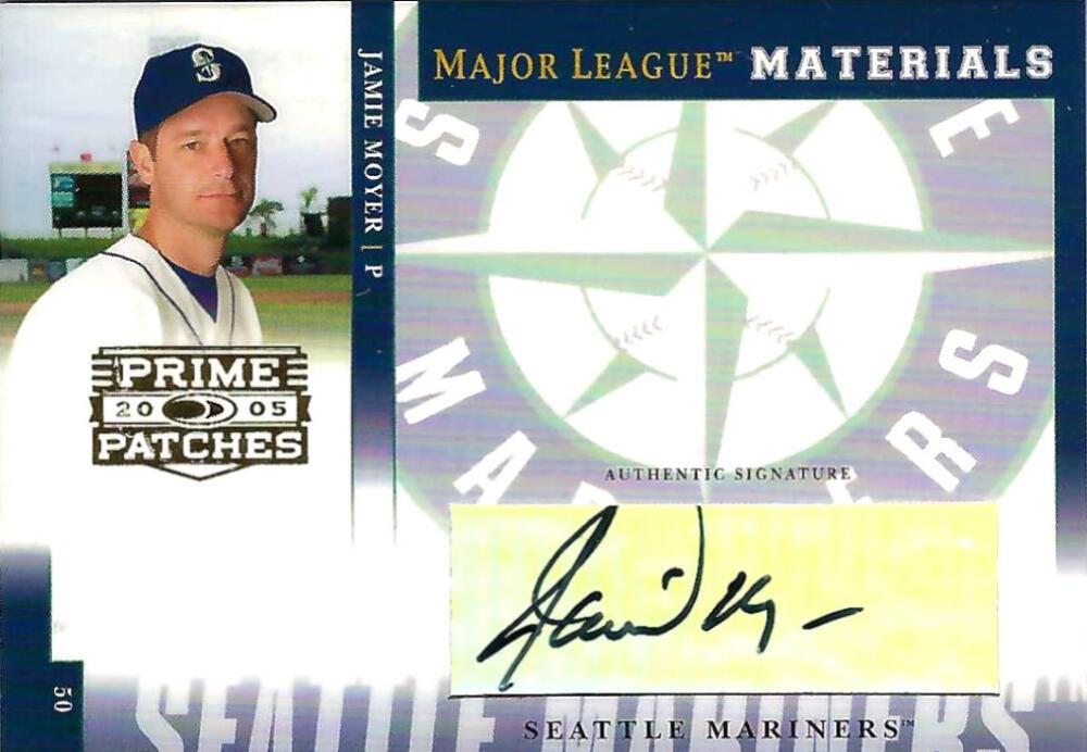 2005 Donruss Prime Patches Major League Materials Autograph