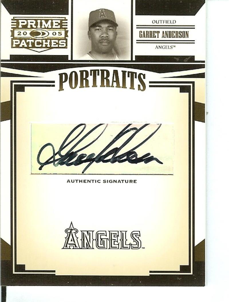 2005 Donruss Prime Patches Portraits Autograph