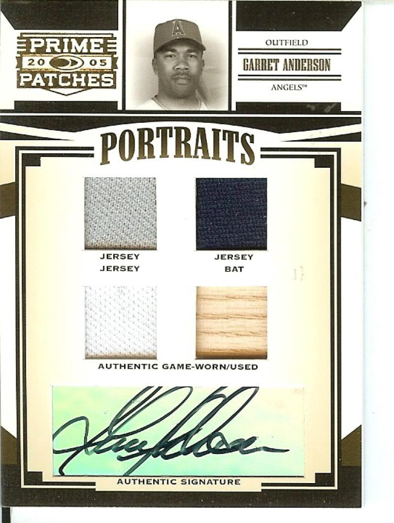 2005 Donruss Prime Patches Portraits Autograph Quad Swatch