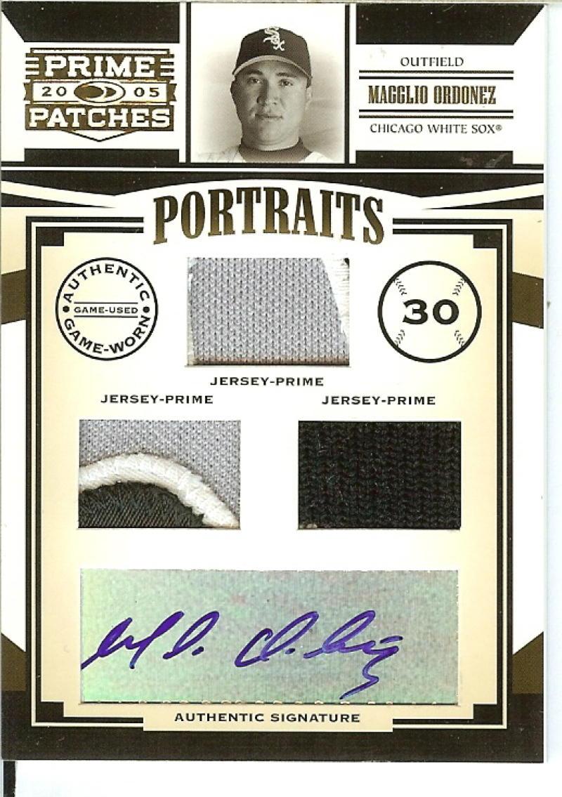 2005 Donruss Prime Patches Portraits Autograph Triple Swatch Prime