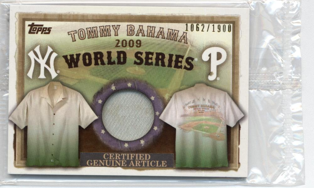 2010 Topps  Tommy Bahama World Series Memorabilia