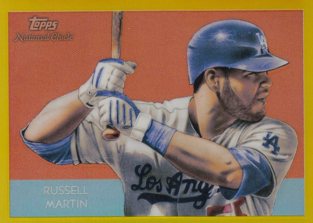 2010 Topps Chrome National Chicle Gold Refractors