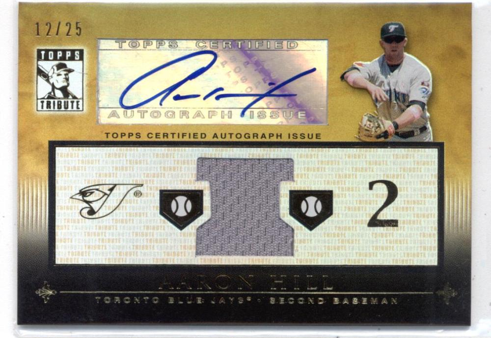 2010 Topps Tribute 2010 Topps Tribute Autograph Dual Relics Gold