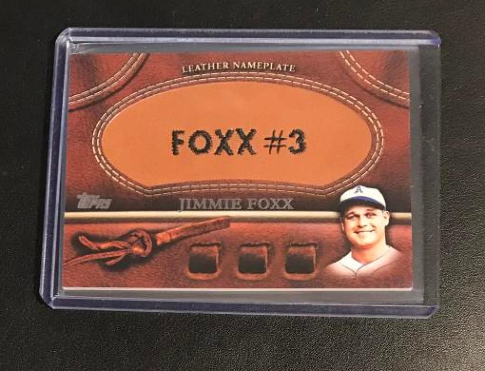 2011 Topps  Manufactured Glove Leather Nameplates