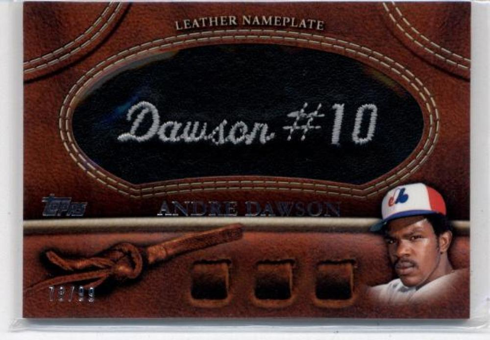 2011 Topps  Manufactured Glove Leather Nameplates Black