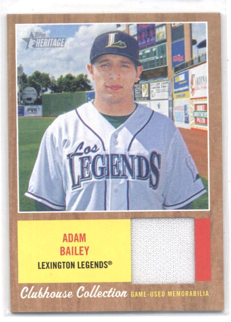 2011 Topps Heritage Minor League Clubhouse Collection Relics